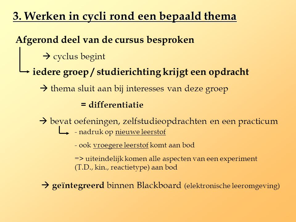 3. Werken in cycli rond een bepaald thema