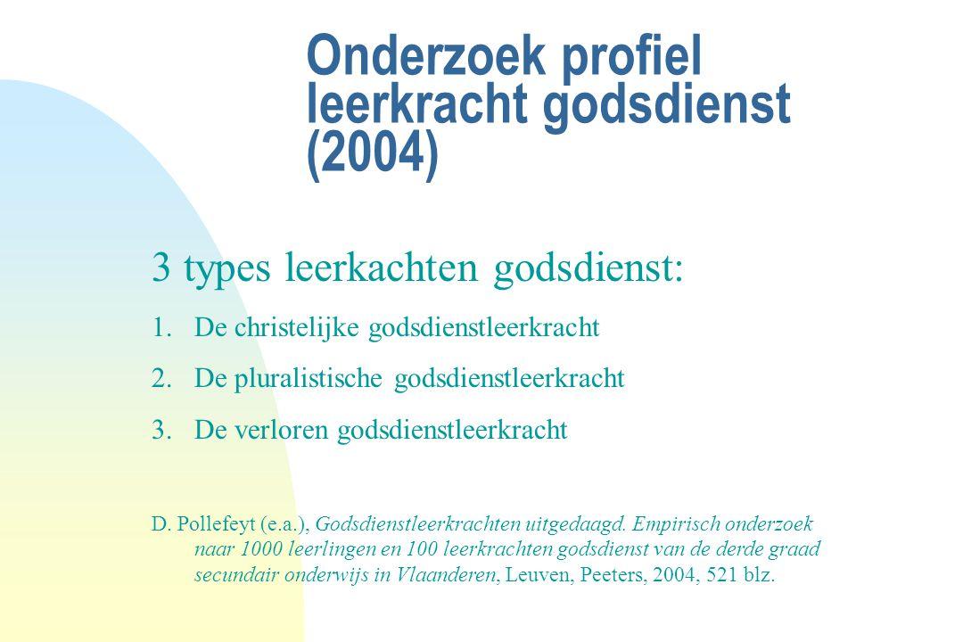 Onderzoek profiel leerkracht godsdienst (2004)