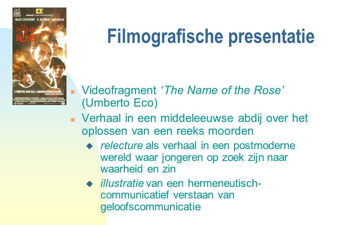 Filmografische presentatie