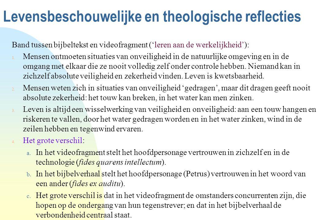 Levensbeschouwelijke en theologische reflecties