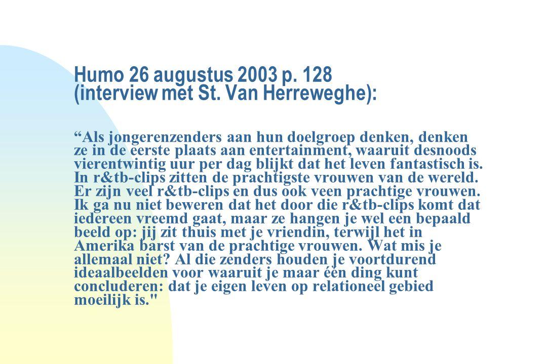 Humo 26 augustus 2003 p. 128 (interview met St