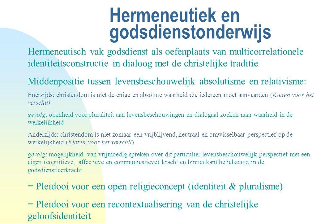 Hermeneutiek en godsdienstonderwijs