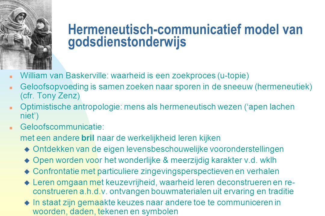 Hermeneutisch-communicatief model van godsdienstonderwijs