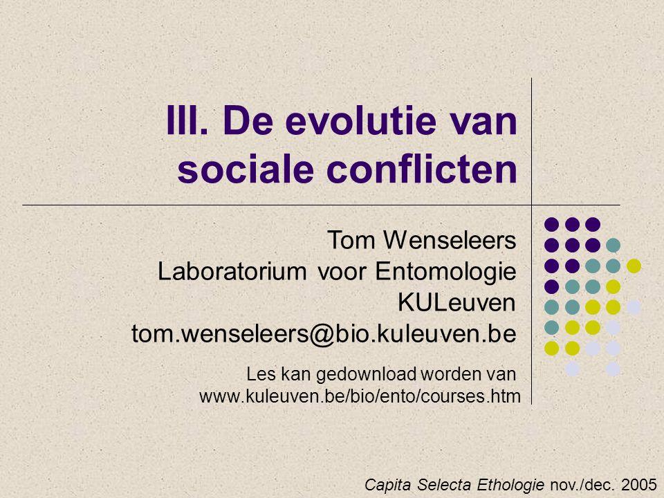 III. De evolutie van sociale conflicten