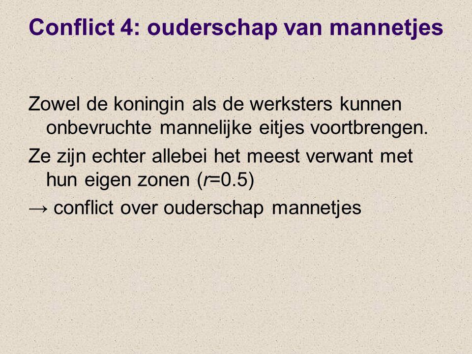Conflict 4: ouderschap van mannetjes