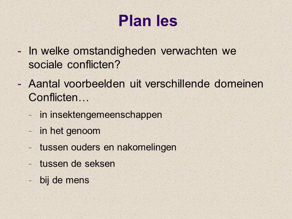 Plan les In welke omstandigheden verwachten we sociale conflicten