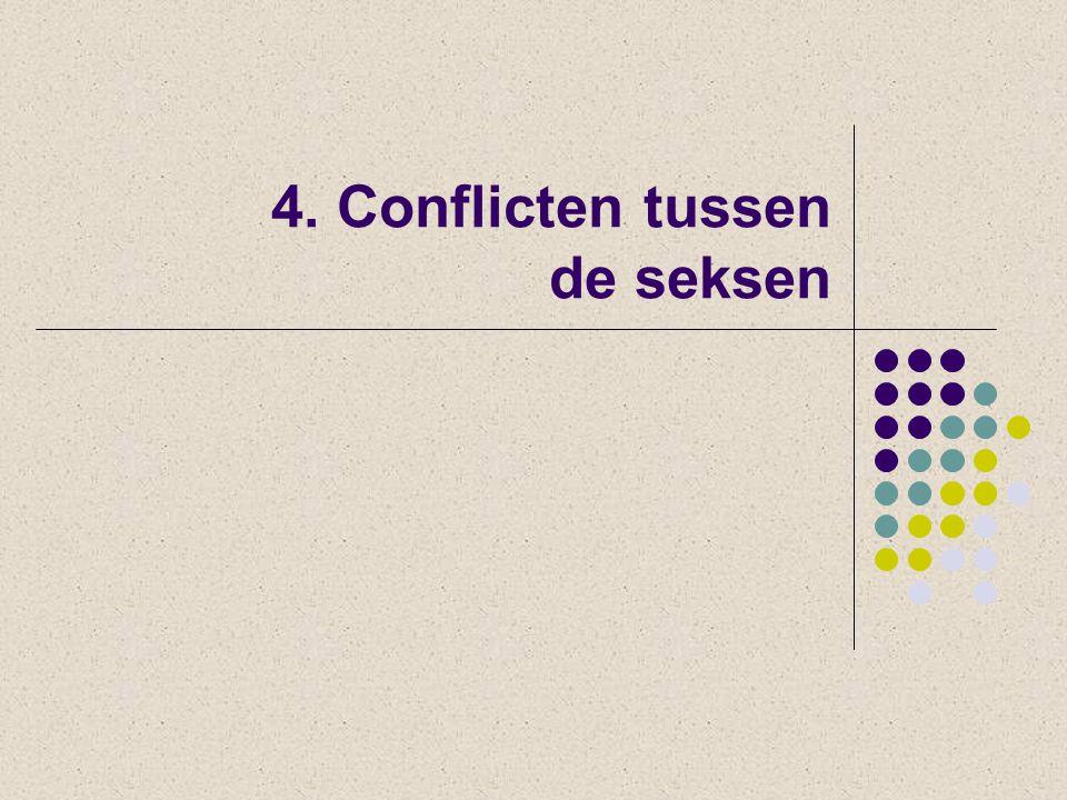 4. Conflicten tussen de seksen