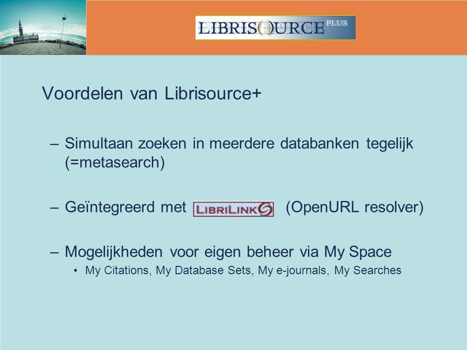 Voordelen van Librisource+