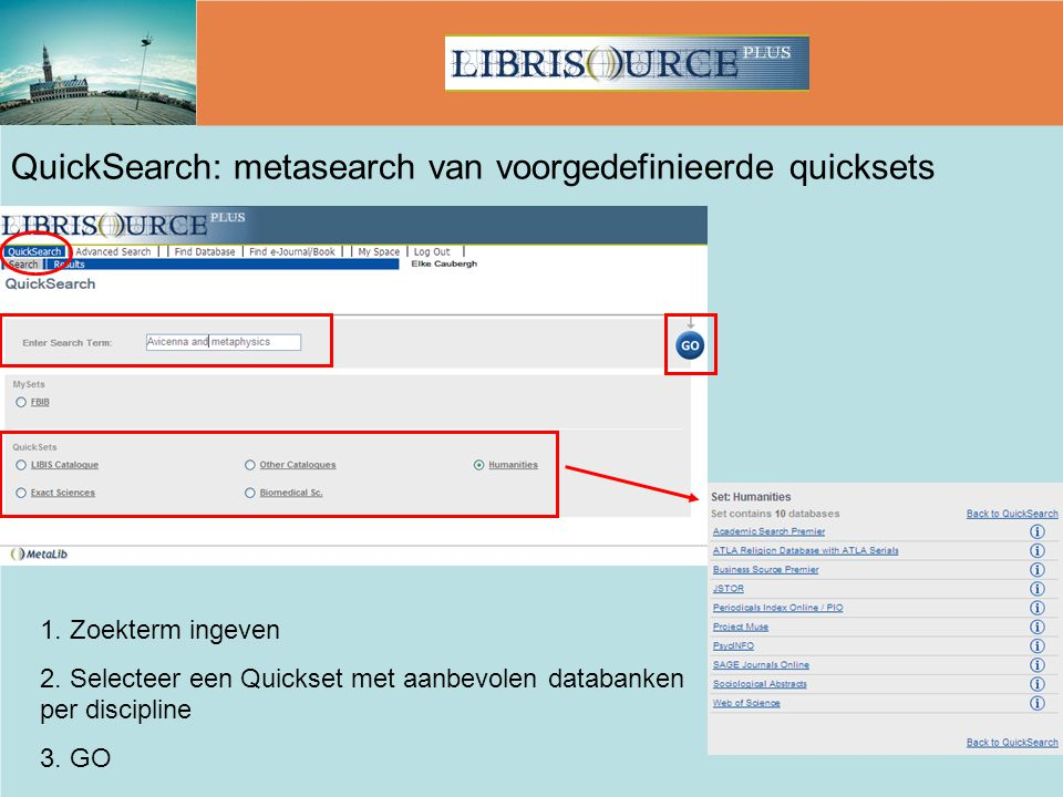 QuickSearch: metasearch van voorgedefinieerde quicksets