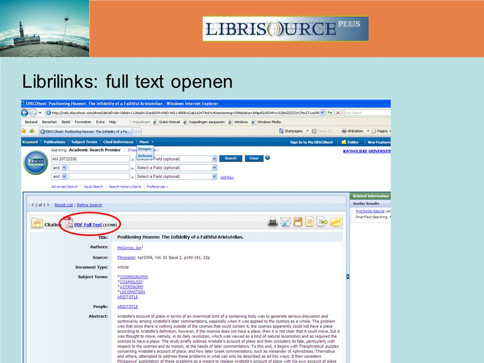 Librilinks: full text openen