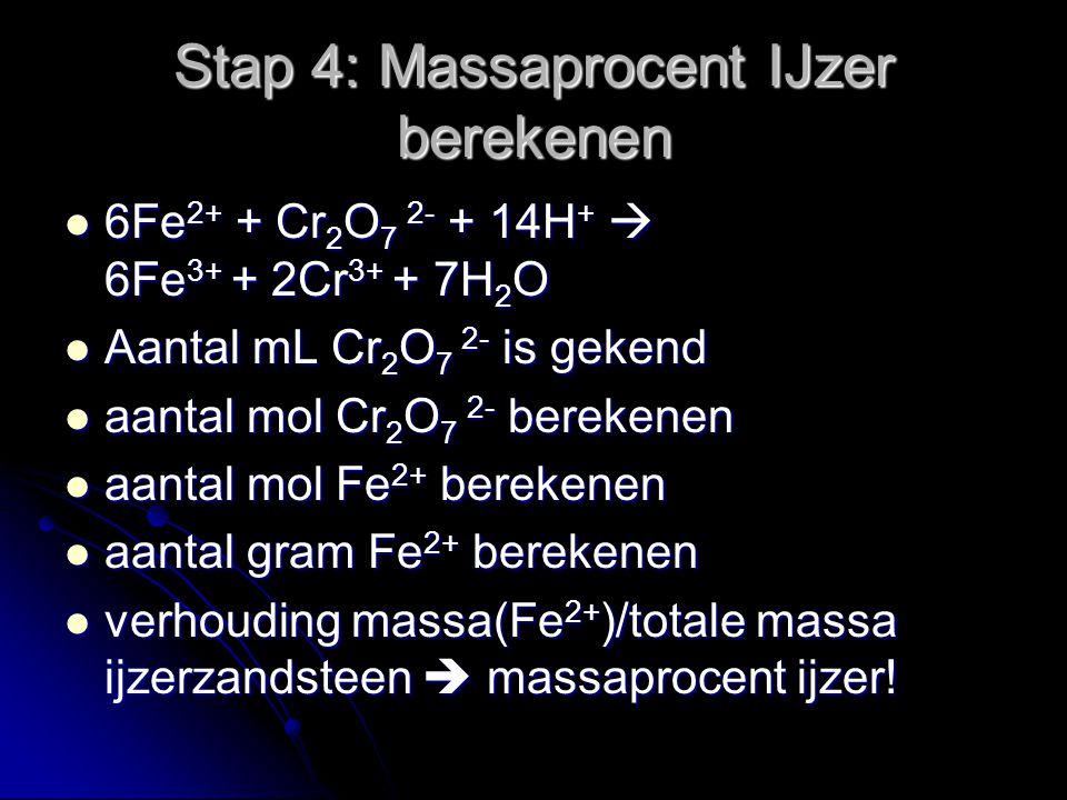 Stap 4: Massaprocent IJzer berekenen
