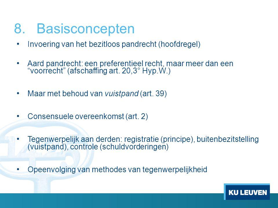 Basisconcepten Invoering van het bezitloos pandrecht (hoofdregel)