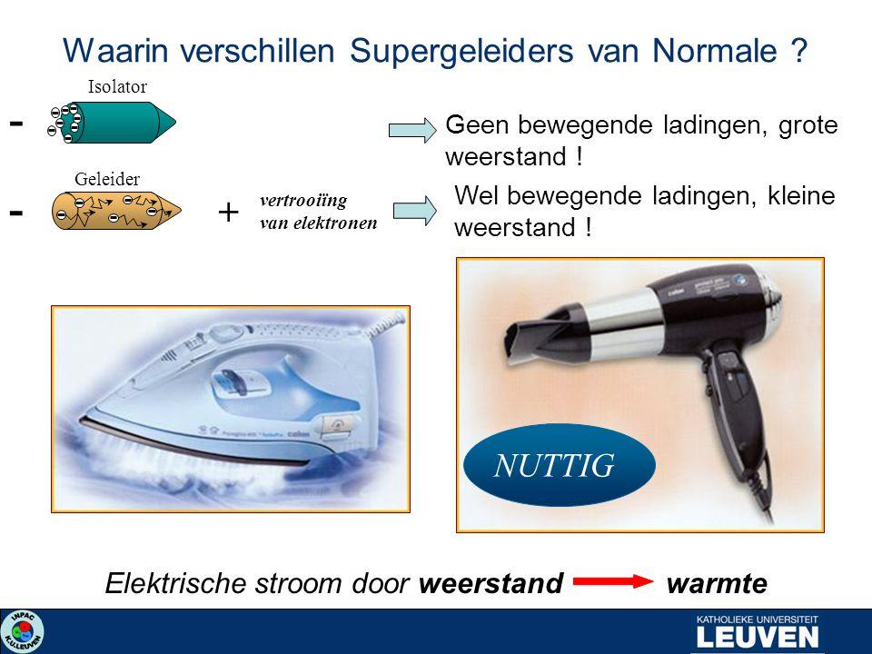 Waarin verschillen Supergeleiders van Normale