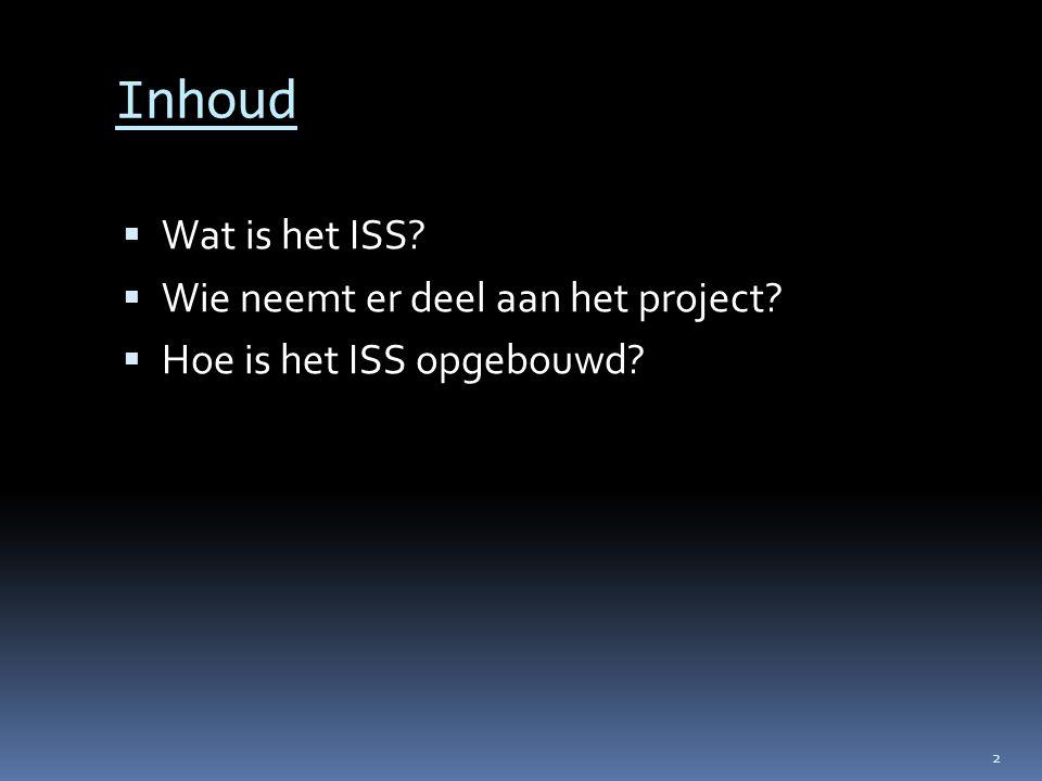 Inhoud Wat is het ISS Wie neemt er deel aan het project