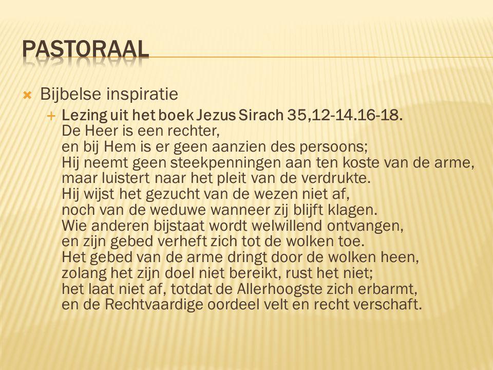 Pastoraal Bijbelse inspiratie