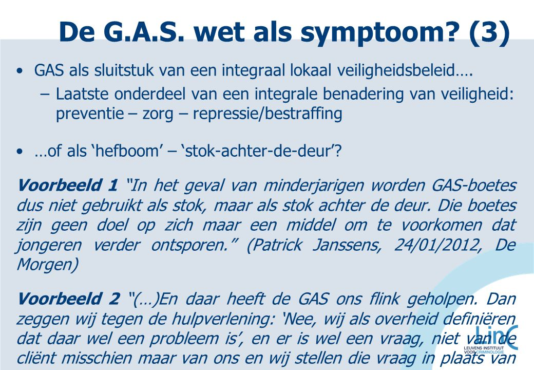 De G.A.S. wet als symptoom (3)