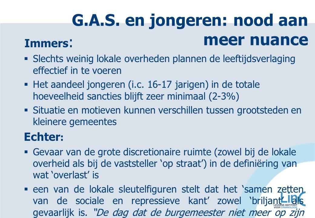 G.A.S. en jongeren: nood aan meer nuance