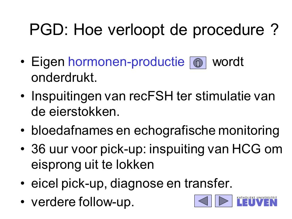 PGD: Hoe verloopt de procedure