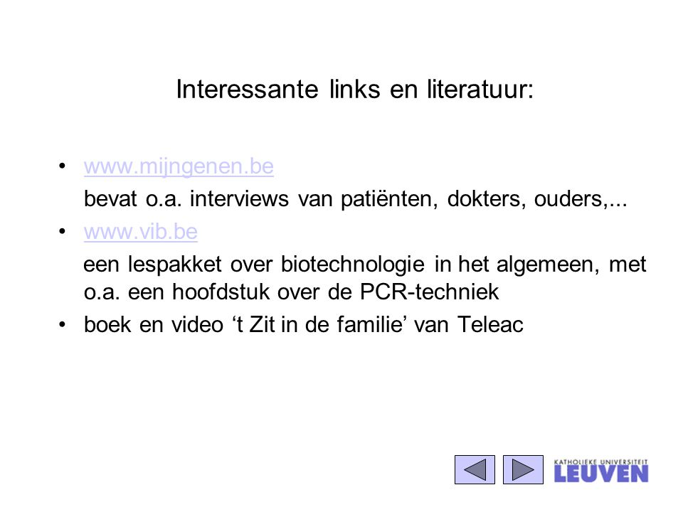 Interessante links en literatuur: