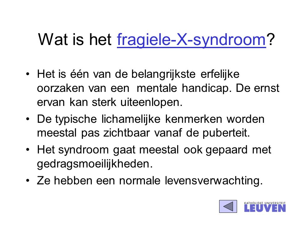 Wat is het fragiele-X-syndroom