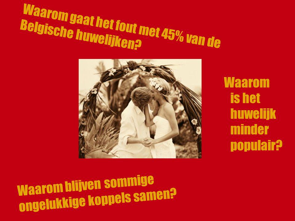 Waarom gaat het fout met 45% van de Belgische huwelijken