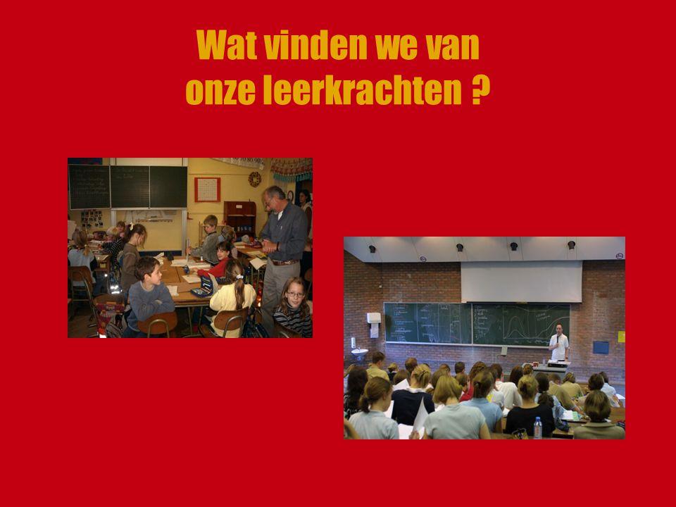Wat vinden we van onze leerkrachten