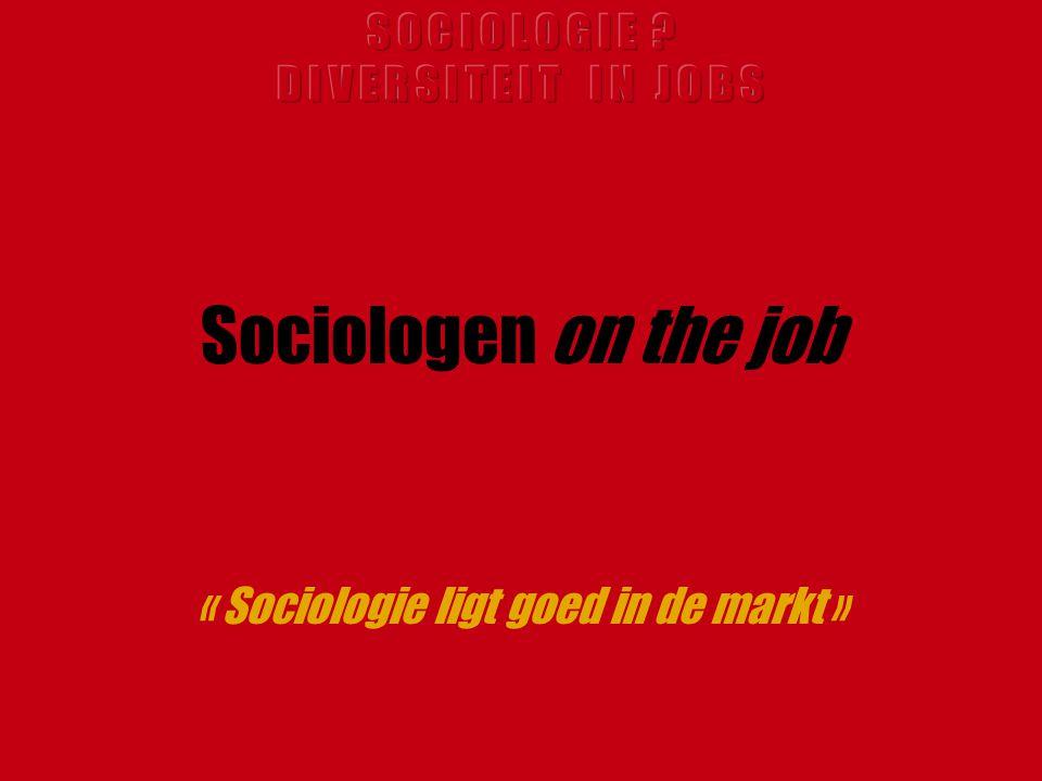 « Sociologie ligt goed in de markt »
