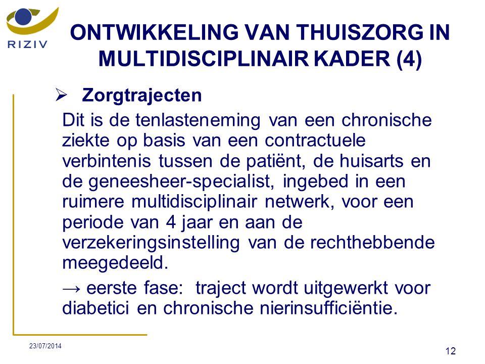 ONTWIKKELING VAN THUISZORG IN MULTIDISCIPLINAIR KADER (4)