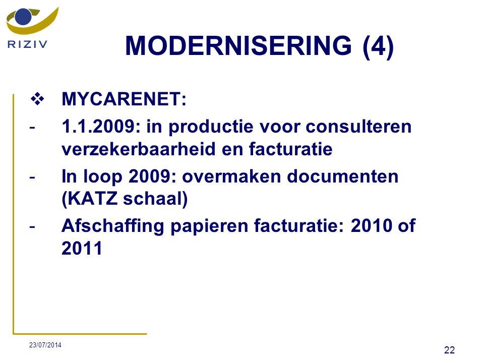 MODERNISERING (4) MYCARENET: