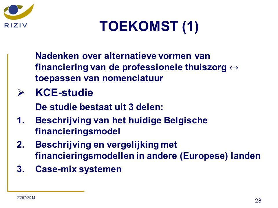 TOEKOMST (1) KCE-studie
