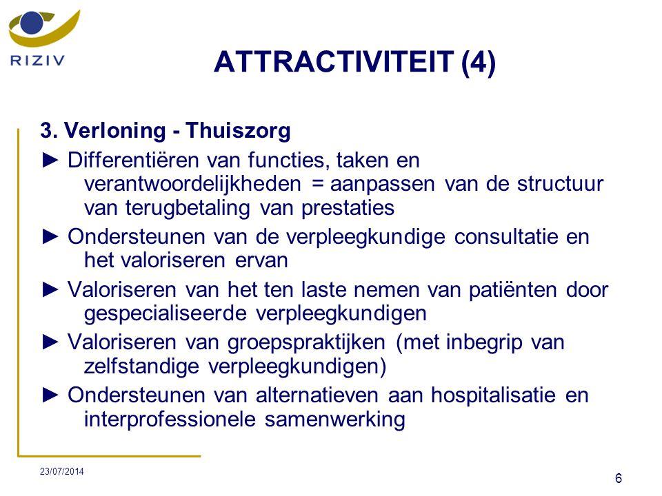 ATTRACTIVITEIT (4) 3. Verloning - Thuiszorg
