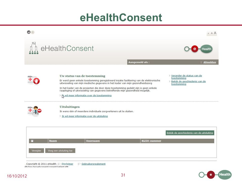 eHealthConsent
