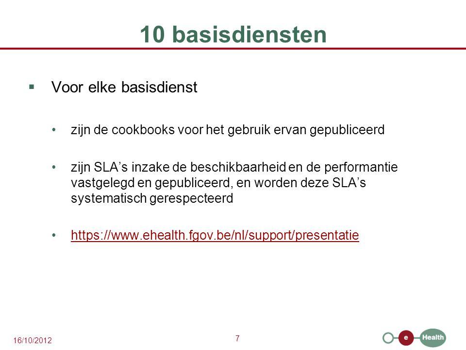 10 basisdiensten Voor elke basisdienst