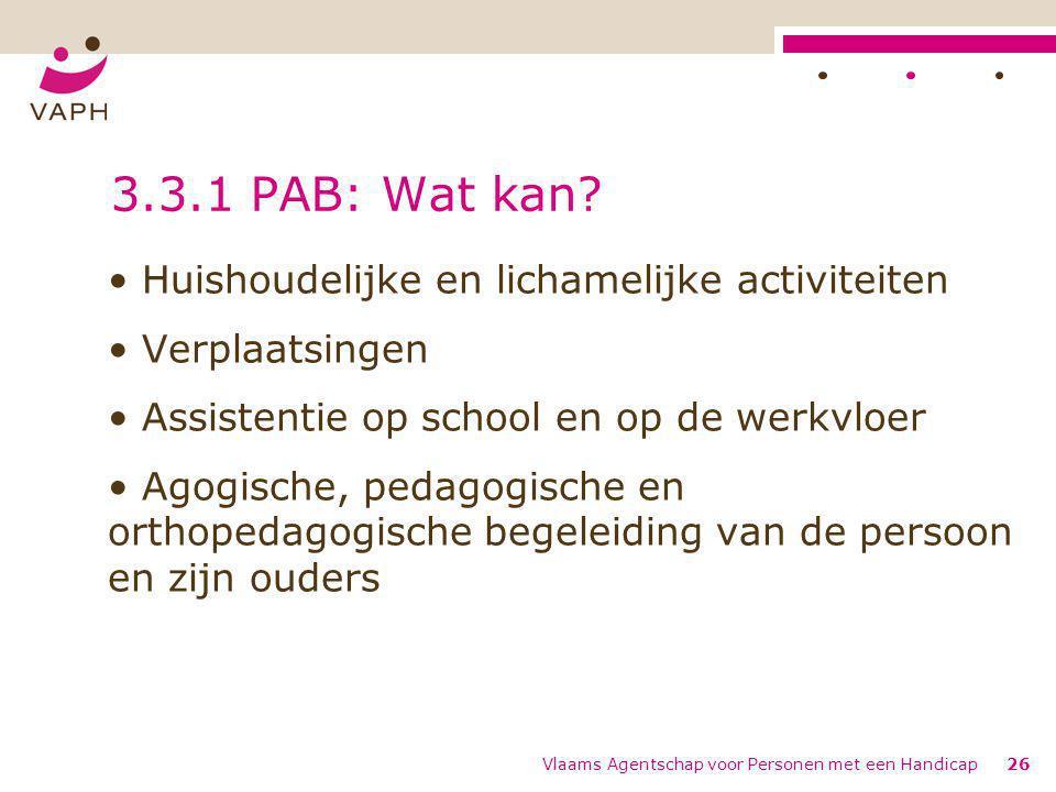 3.3.1 PAB: Wat kan Huishoudelijke en lichamelijke activiteiten