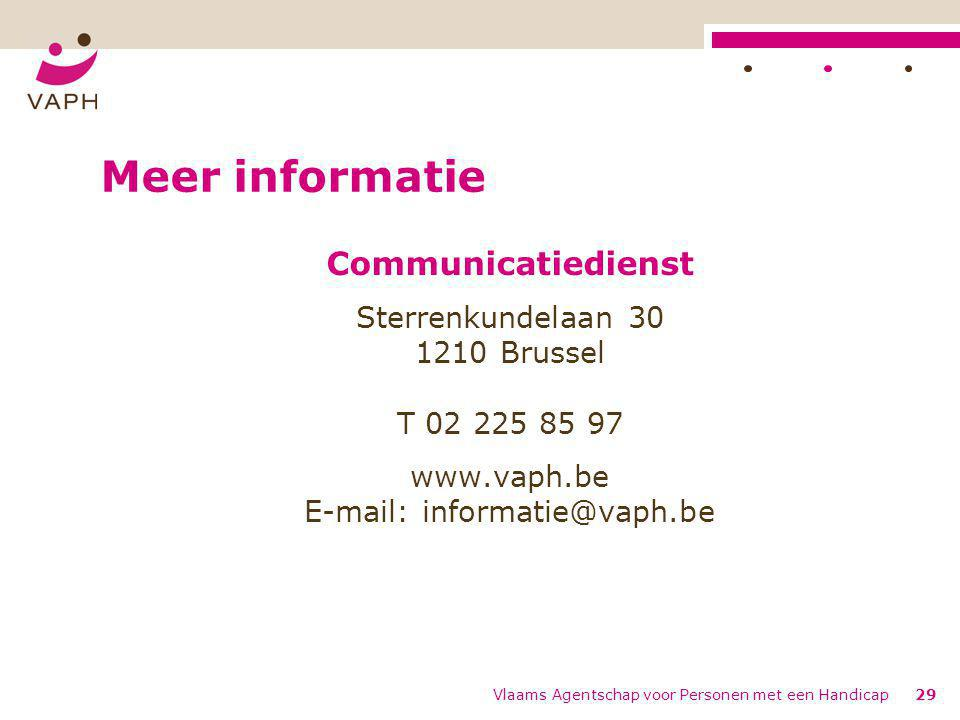 Meer informatie Communicatiedienst