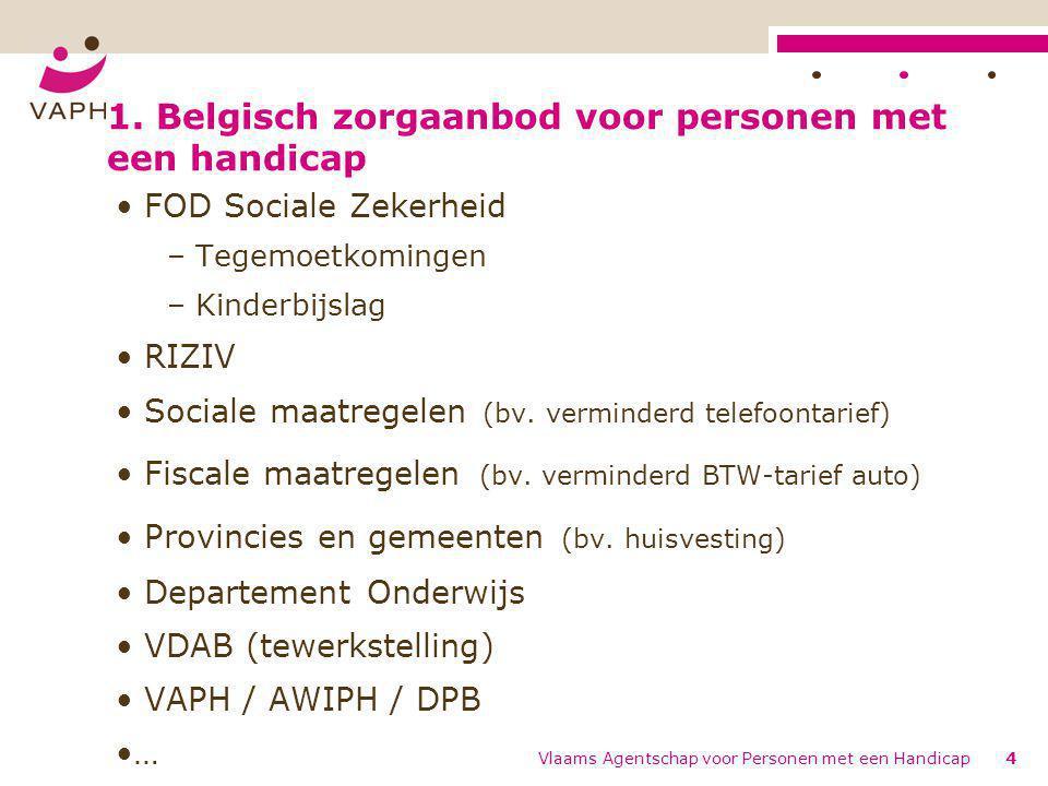 1. Belgisch zorgaanbod voor personen met een handicap
