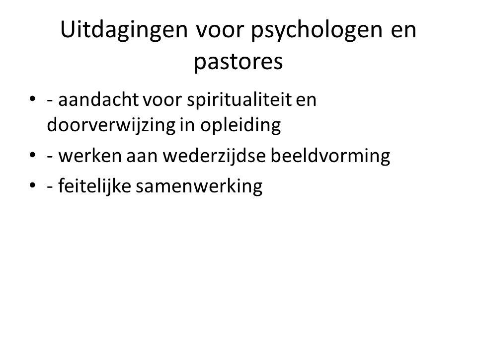 Uitdagingen voor psychologen en pastores