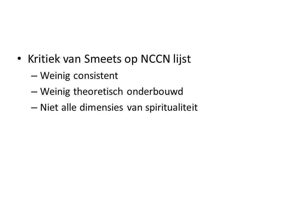 Kritiek van Smeets op NCCN lijst
