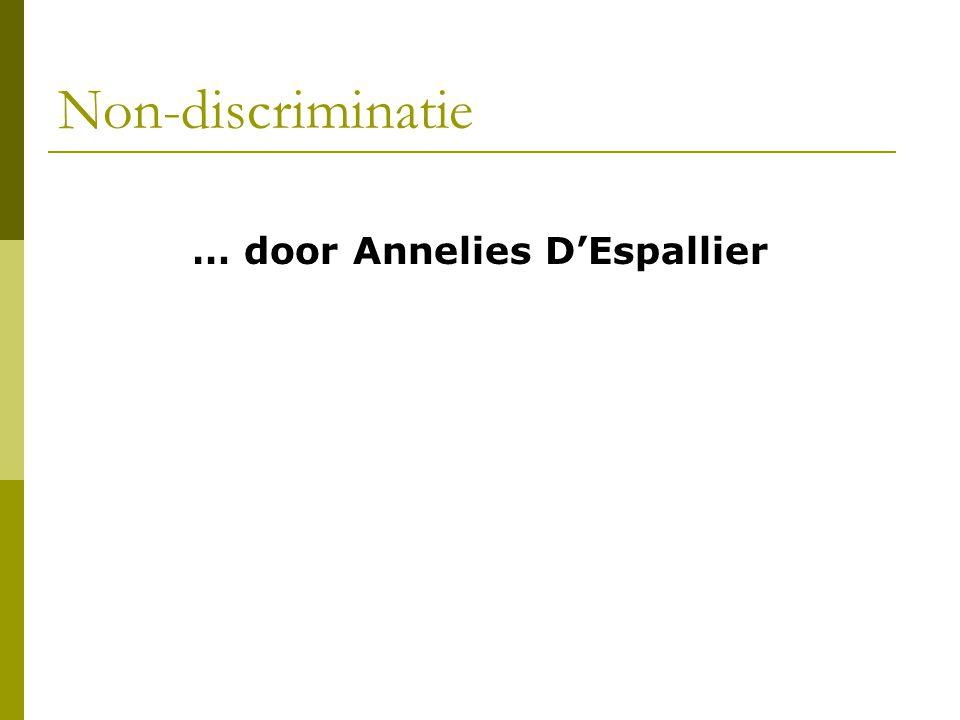 … door Annelies D'Espallier