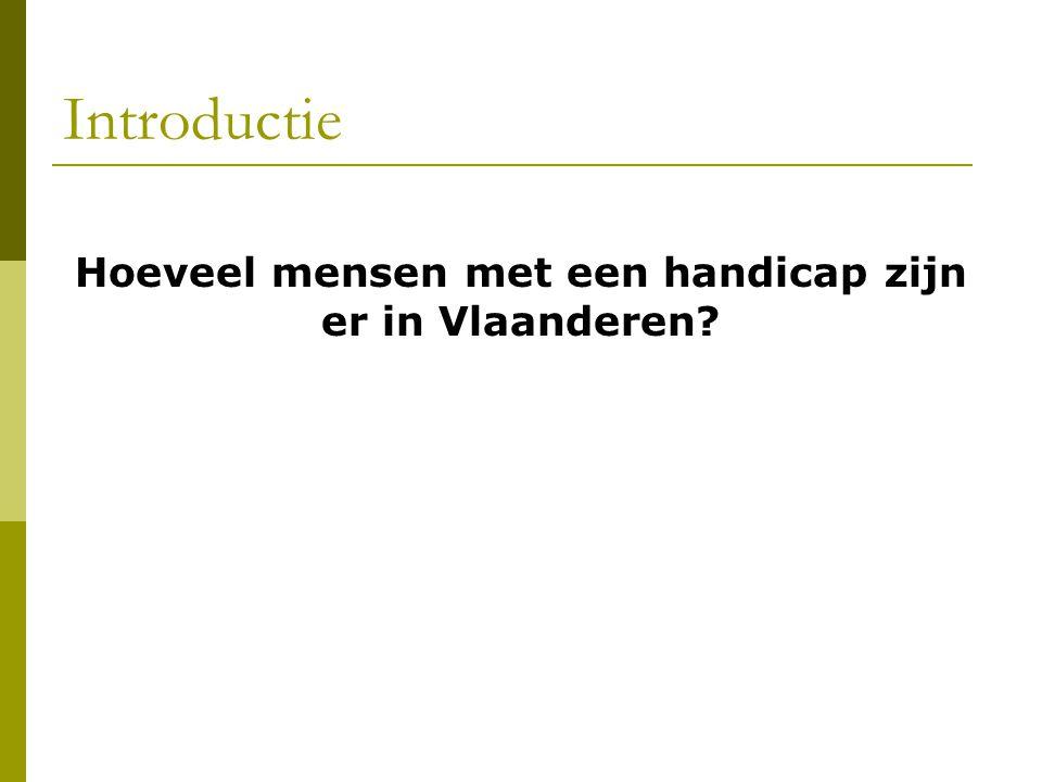 Hoeveel mensen met een handicap zijn er in Vlaanderen