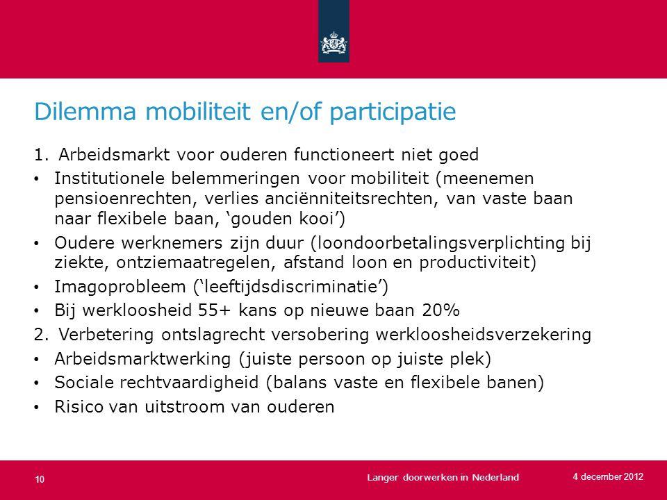 Dilemma mobiliteit en/of participatie