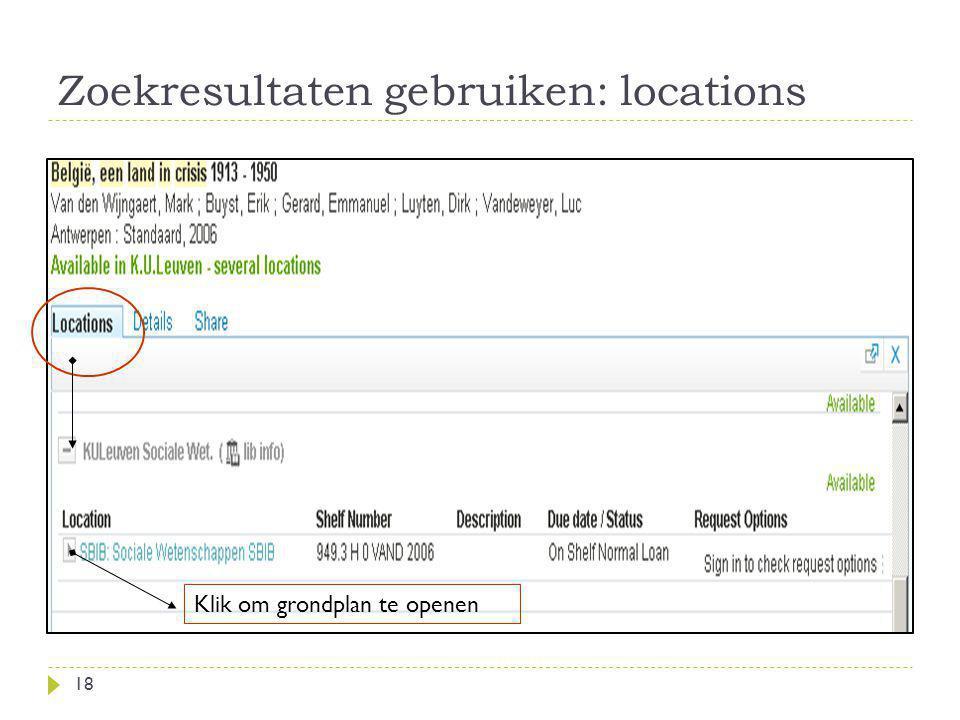 Zoekresultaten gebruiken: locations