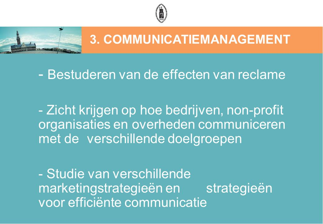 3. COMMUNICATIEMANAGEMENT