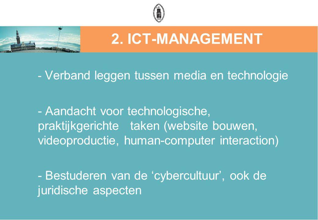 - Verband leggen tussen media en technologie