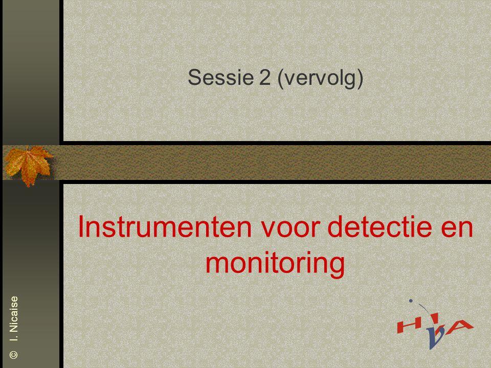 Instrumenten voor detectie en monitoring
