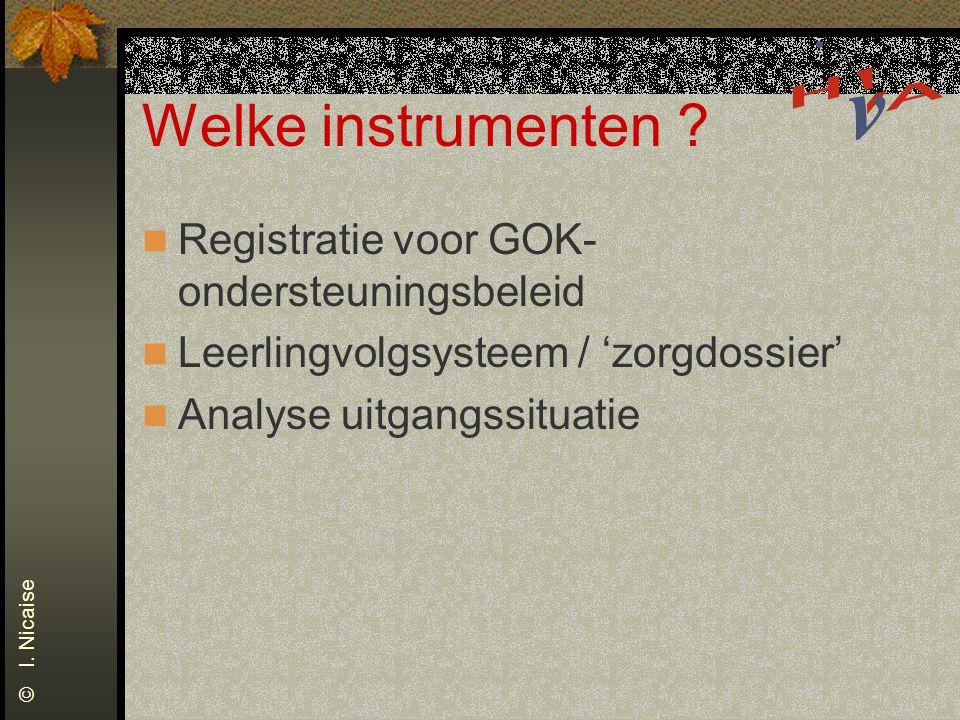 Welke instrumenten Registratie voor GOK-ondersteuningsbeleid