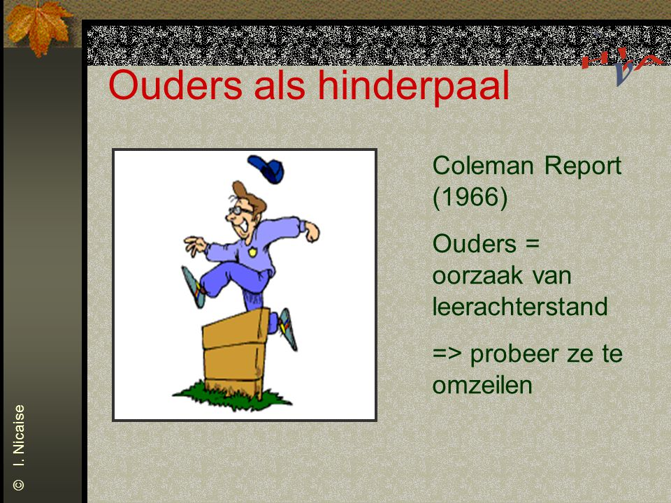 Ouders als hinderpaal Coleman Report (1966)