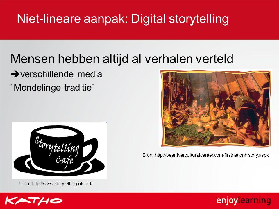 Niet-lineare aanpak: Digital storytelling