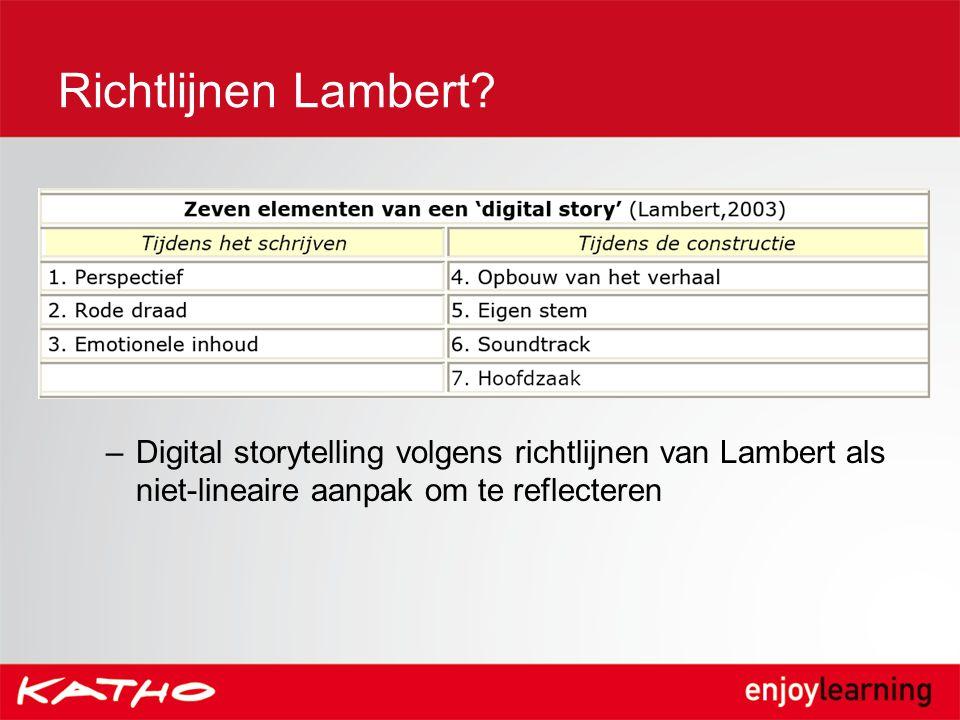 Richtlijnen Lambert.