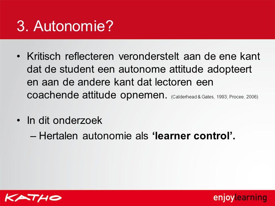 3. Autonomie